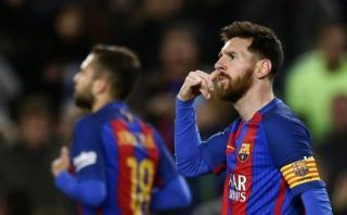 Lionel Messi: peculiar celebración tras golazo con el Barcelona