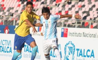 Argentina cayó 2-0 ante Brasil por el Sudamericano Sub-17