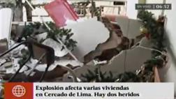 Cercado: explosión deja 4 heridos y 15 viviendas afectadas