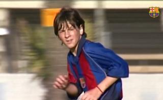 Lionel Messi: su debut en el Barcelona Infantil hace 16 años