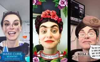 Snapchat: filtros de Frida Kahlo, Marire Curie y Rosa Parks