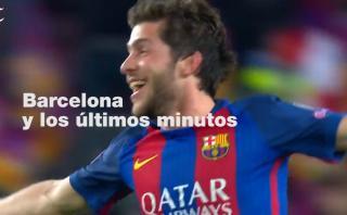 Barcelona y sus goles más importantes en los últimos minutos