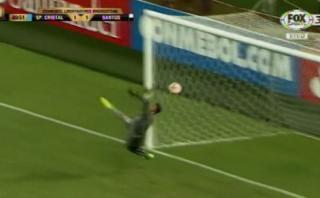 Cristal no venció al Santos por estas dos atajadas de Vladimir