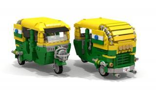 No te engañan tus ojos: Este es un mototaxi hecho de Lego