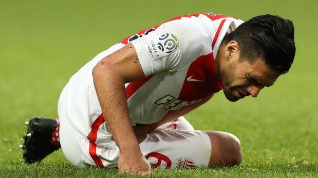 Radamel Falcao se volvió a lesionar en triunfo del Mónaco