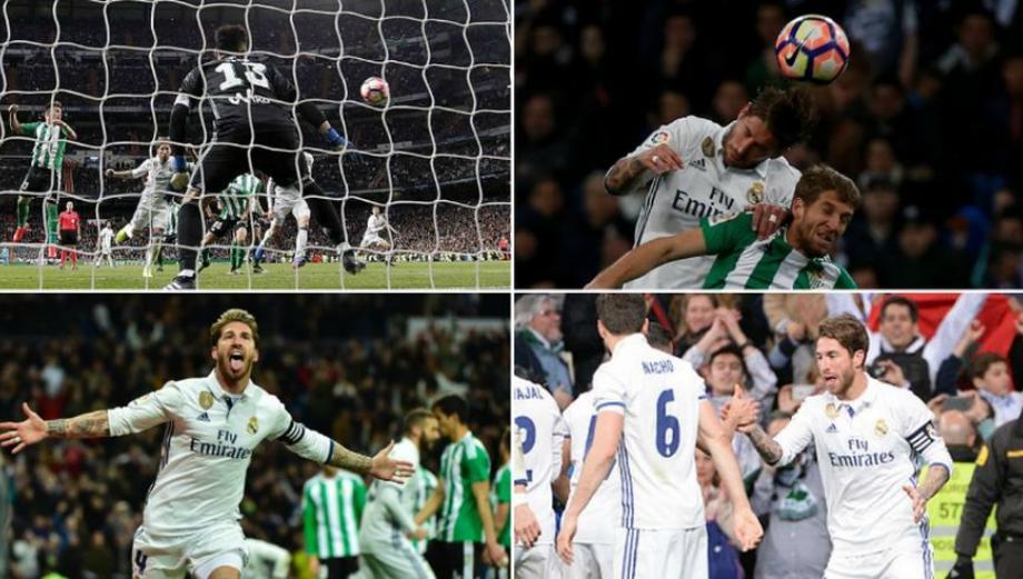 CUADROxCUADRO del gol de Ramos que dio punta al Real Madrid
