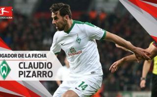Claudio Pizarro volvió a ser elegido mejor jugador de la fecha