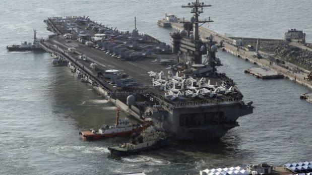 Tensión: Portaaviones nuclear de EE.UU. llega a Corea del Sur