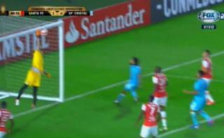 Cristal: Lobatón estuvo a centímetros de marcar gol olímpico
