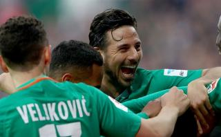 Con Pizarro hasta los 73': Werder Bremen goleó 3-0 a RB Leipzig