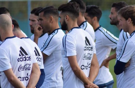 Lionel Messi entrenó este martes con la selección argentina