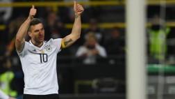 Alemania ganó 1-0 a Inglaterra con gol de Podolski en amistoso