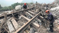 Ferrocarril lleva una semana sin operar por vías destruidas