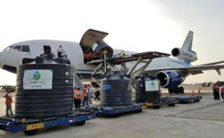 Llega a Lima la ayuda humanitaria procedente de Bolivia