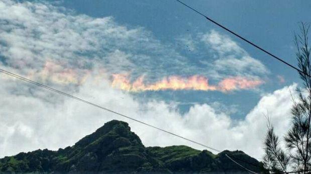 """Facebook: """"arcoíris de fuego"""" sorprende en el cielo de Chiclayo"""