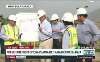 Planta de Huachipa: PPK comprobó que consorcio no terminó obras