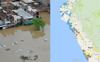 El mapa que reúne los desastres causados por El Niño costero