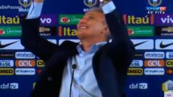 La reacción de Tite al conocer triunfo de Perú ante Uruguay