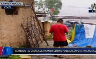 Lambayeque: otro huaico cayó en centro poblado de Motupe