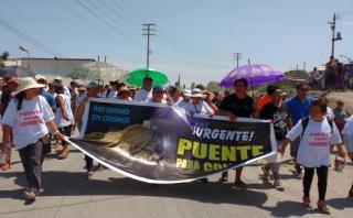 Áncash: vecinos de Coishco exigen reconstrucción de un puente