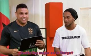 Ronaldo y Ronaldinho en curiosa entrevista: ¿Quién fue mejor?