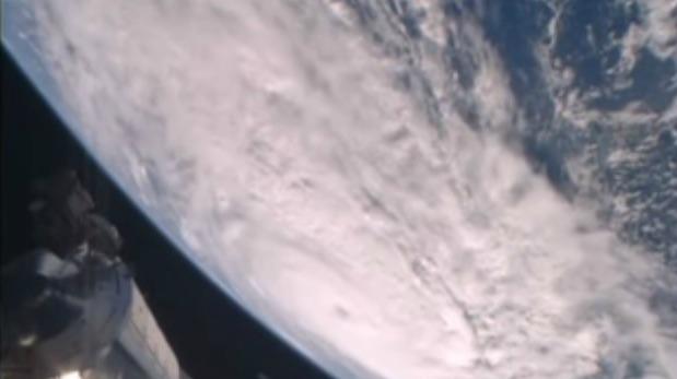 El ciclón Debbie visto desde la Estación Espacial Internacional
