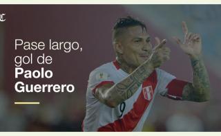Pase largo para Paolo Guerrero y gol: la fórmula de Perú