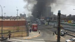 Cercado de Lima: incendio afectó edificio en construcción