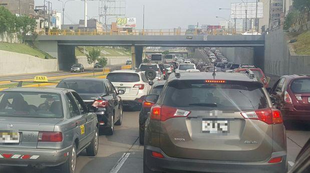 Vía Expresa: accidente causó caos en vía del Metropolitano