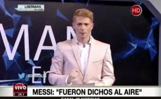 "Liberman asegura que Messi le da ""vergüenza"" y lo critica así"