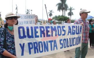 Trujillo: protestan por falta de agua potable en la ciudad
