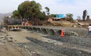Áncash: instalarán puente Bailey en Coishco tras colapso de vía
