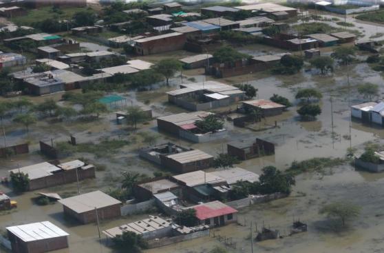 Piura: provincia de Morropón bajo el agua tras horas de lluvia