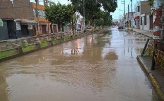 Áncash: río Sechín se desborda y llega a Plaza de Armas