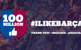 Barza también logró los 100 millones de seguidores en Facebook