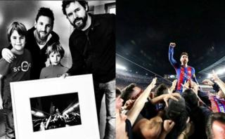 Lionel Messi recibió la foto viral de la remontada ante PSG