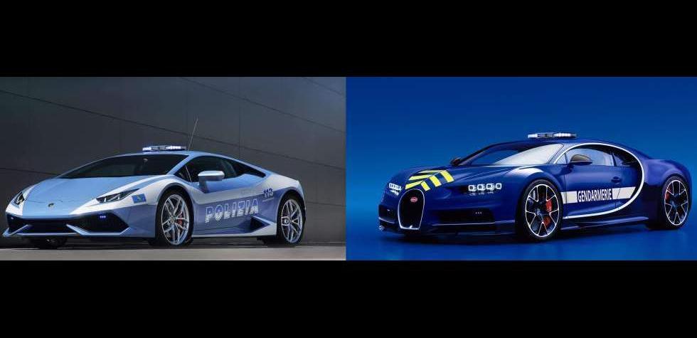 Hasta Lamborghinis: Los súperautos de los policías