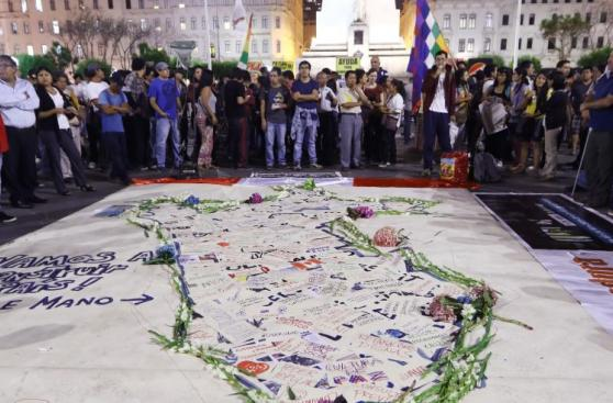 Plaza San Martín: plantón por 5 de abril y #YoApoyoDL1323