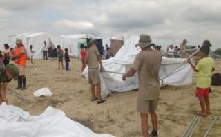 Lambayeque: damnificados pernoctan en albergues temporales