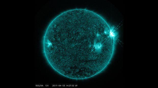 La NASA capturó imágenes de tres erupciones solares