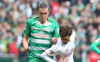 """Werder Bremen venció 2-1 al Hamburgo en el """"Nordderby"""""""