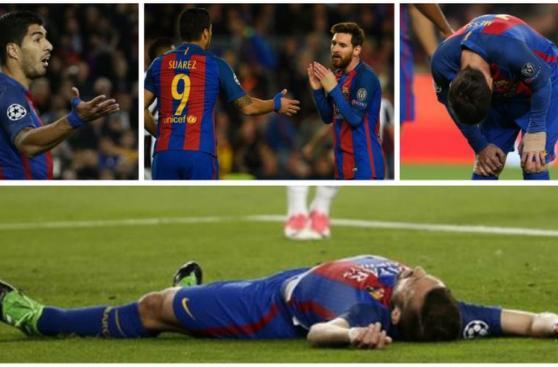 Barcelona: Messi y los rostros de decepción tras ser eliminados