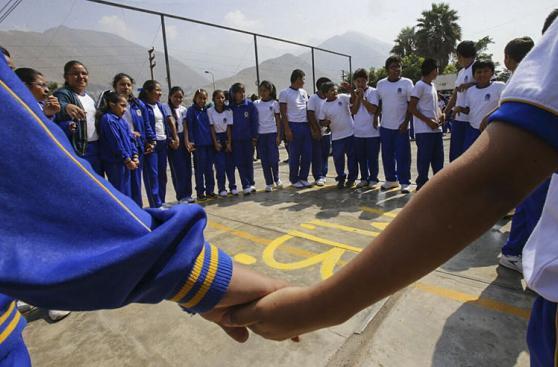 Chosica: simulacro de sismo y huaico en el colegio La Cantuta