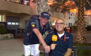 Un loquillo: Verstappen vaciló a un periodista ante cámaras