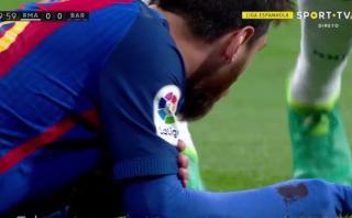 Lionel Messi recibió codazo de Marcelo y quedó ensangrentado