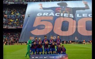 Lionel Messi: la bandera del Camp Nou por sus 500 goles