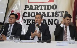 """Humala: """"Es mentira que no me hayan interceptado a mí o Nadine"""""""