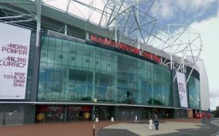 El Old Trafford visto desde Google Maps