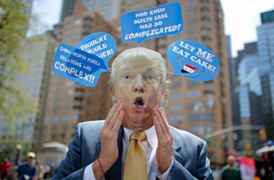 Protestas ensombrecen los primeros 100 días de Trump