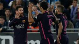 Barcelona goleó 3-0 al Espanyol con doblete de Luis Suárez